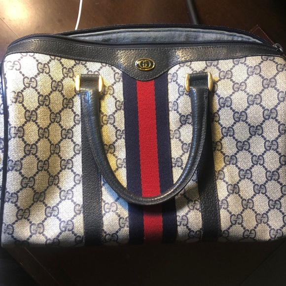 0a7aaab026e6 Gucci Bags | Boston Vintage Leather Satchel | Poshmark